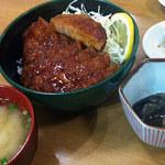 ソースかつ丼 我山 - ソースカツドンハーフ(ロース) 1,000円
