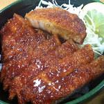 ソースかつ丼 我山 - ソースカツ丼ハーフ(ロース)