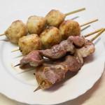 江戸っ子 - 2013.7 肉だんご、タン(4串320円)
