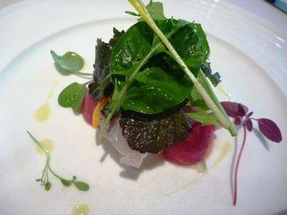 リストランテ カノビアーノ 福岡 - 鰆の炙りと季節野菜 レモンドレッシング・