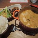 Soup&cafe たらTaRa  - 赤いたらたらスープセット