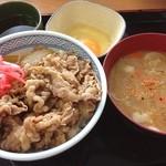 吉野家 - 牛丼並と生玉子と豚汁♪
