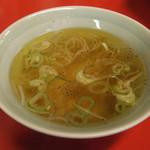 丸子家 - チャーハンとセットのスープ