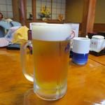 炭火焼うなぎ 東山物産 - ご存じ生ビール(笑)