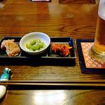 和食家 駿 - 生ビール(ふたくち飲みました)& お通し
