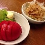 あべちゃん - トマト、オニオンスライス450円