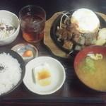 金太郎 - サイコロステーキ定食¥500