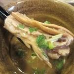 ベジポタつけ麺えん寺 - ・「ベジポタつけ麺(\800)」のつけ汁トッピング。