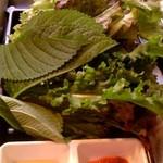 Hantejiya - サムギョプサルセットの野菜