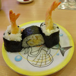 かっぱ寿司 - 料理写真:海老天巻き。