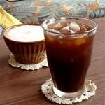 ダバダバ - ウニールさんのスペシャルティーコーヒー(アイス)【500円】+ふわふわミルクコーヒー【550円】