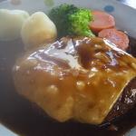 レストラン ザ・マベリック - 煮込みチーズハンバーグセット 1000円