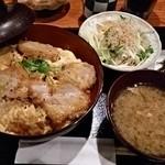 黒豚庵 - ヒレカツカツ丼