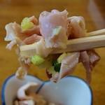 香楽 - 鶏皮ポン酢