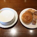 ラ・テール・メゾン - セットの大根とカブのポタージュ・パン