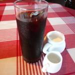薪釜屋 ciao - ランチセットのアイスコーヒー