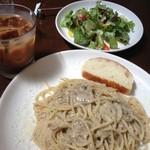 20128680 - 本日のランチ!                       パスタとサラダとドリンクとデザートで1000円!