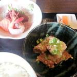 20129006 - お刺身と鮪の竜田揚