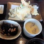 20129008 - 天ぷらと小鉢と茶碗蒸し