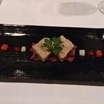 Ripaille - 豚肉のリュエット、下は紫きゃべつ