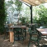 ガーデンハウス レストラン - テラス席今日は空いていました