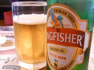 タージマハル エベレスト 高槻店 - インドのビール キングフィッシャー¥630も注文♪
