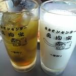 20137338 - バナナジュース、烏龍茶☆