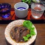 20137823 - 利き酒セットとホタルイカ沖漬け