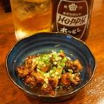素揚げや - 2013.7 煮鳥ツナギ(350円)