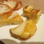 シャントレル - フォアグラのラスク、玉ねぎのオムレツ