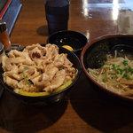 伝説のすた丼屋 - ミニすた丼+ミニラーメン