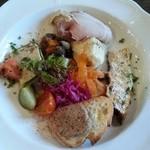 トラットリア イル バッコドーロ - ランチの前菜プレート