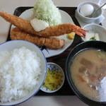 かつ亭 - ミックスかつ定食