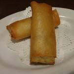 青龍門 - 蟹と豆腐の爆熱春巻