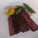 レストランJ - オーストラリア産 牛はらみのステーキ 柚子胡椒香る有機大根ソース