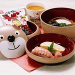 四國うどん - お子様むけ くまちゃんセット 490円