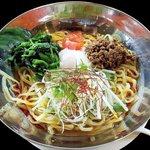 ガスト - 料理写真:夏野菜と温玉ほうれん草の冷やしタンタン麺\733/ガスト開成町店