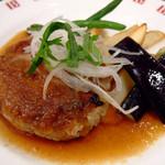 バケット - 主菜:ハンバーグステーキ ジャポネーゼソース