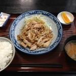 食事処 葵 - 生姜焼定食♡¥750