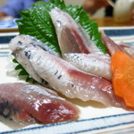 いわしや自来也 - いわしの刺身600円