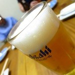 いわしや自来也 - ビール樽生(中ジョッキ)630円