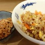 ミルクワンタン 鳥藤 - チャーハンと納豆