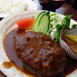 シンドバット - 料理写真:おこのみランチ (ハンバーグ) ¥600  デミの色艶が たまりませんね~!