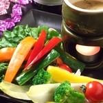 季節野菜のバーニャカウダー