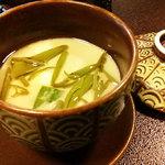 民芸旅館 深志荘 - 冷たい茶碗蒸し(じゅんさい、オクラ、茄子)