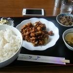 20172527 - 鶏肉の味噌炒め定食、ライス特大