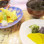 シラハマキーテラス ホテルシーモア - 天ぷらと留椀、香の物 '10 7月下旬
