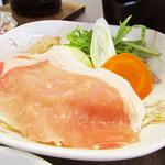 シラハマキーテラス ホテルシーモア - 鍋 紀州地鶏つみれと豚ロース肉のちゃんこ鍋 '10 7月下旬