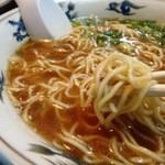久屋らーめん - 再々訪 麺はこんな感じで三原で良く使われている麺ぽい