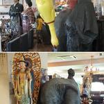 20178620 - 店内。龍馬像が立っていたり鶏がぶら下がっていたり仏像があったり象がいたり。